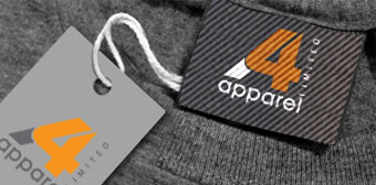 Image of t-shirt with custom label and swing tag